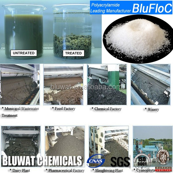 PAM Flocculant Nonionic Bluwat Chemicals