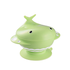 LULA 360ml Whale Double Layer 4 Compartments Kids Feeding Bowl Set Baby Learning Tableware