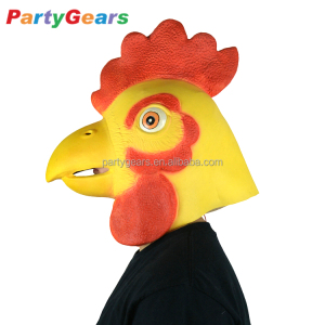 latex cocky rooster rubber chicken cock head mask