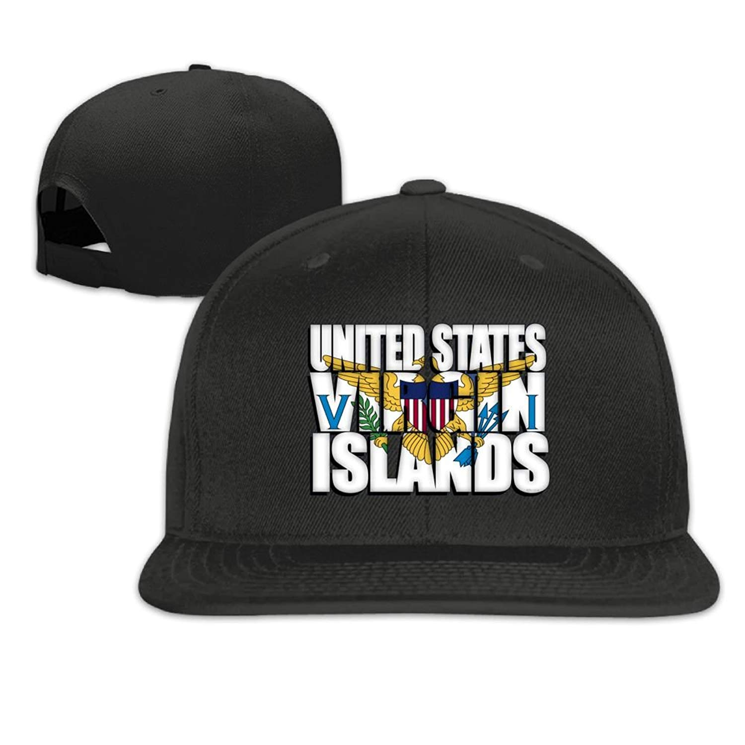 f747b829a17 Get Quotations · Virgin Islands Snapback Hats For Men Funny Flat Bill Hats  Fitted Hats For Men
