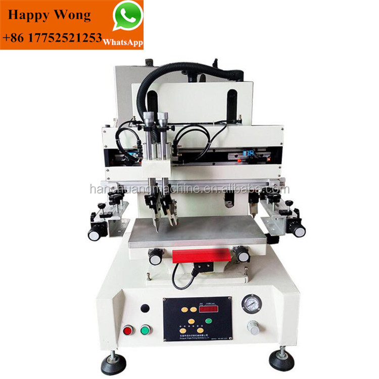 desktop silk screen printing machines with working table for ruler phone case box flat products