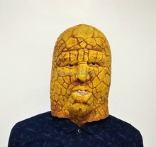 The Mask Biz Fantastic 4 Stone Rock Man Full Mask Latex Halloween Party Costume