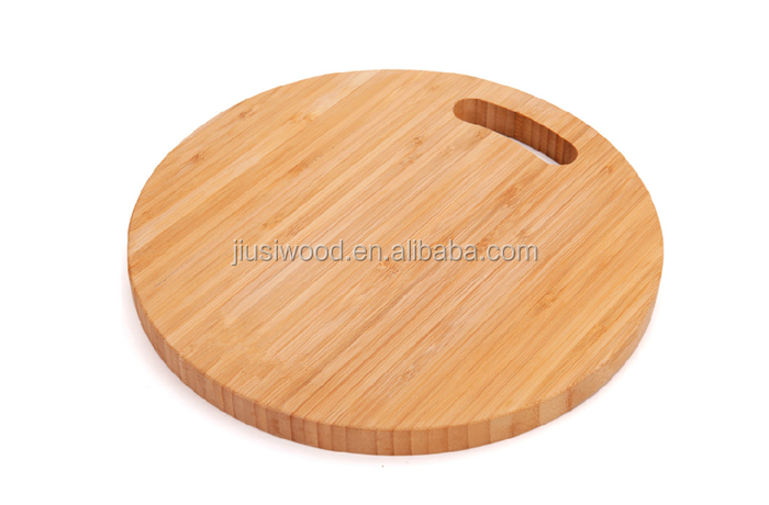 kitchen cooking wood board natural strong round wooden cutting board