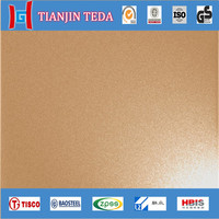 Top Quality 10mm 316Ti titanium coated stainless steel sheets