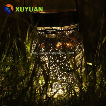 Mason Jar Lights, Solar Led Light Up Sparkling Star for Garden, Patio, Waterproof Outdoor Party Decorations