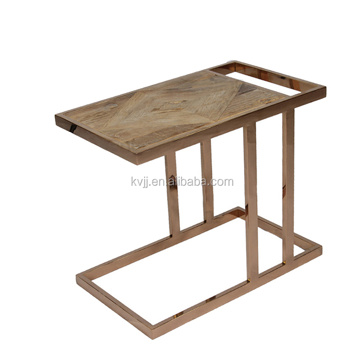 KVJ 7385 Home Interior Decorating Industrial C Shape Laptop Table Side Table