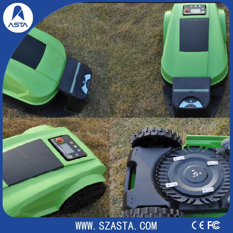 New type LED display Electric Intelligent robot With wifi control Lawn mower grass cutter machine price