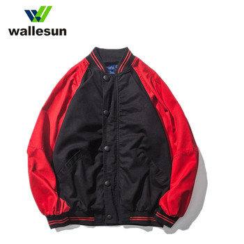 Wholesale hip hop hooded nylon bomber jacket