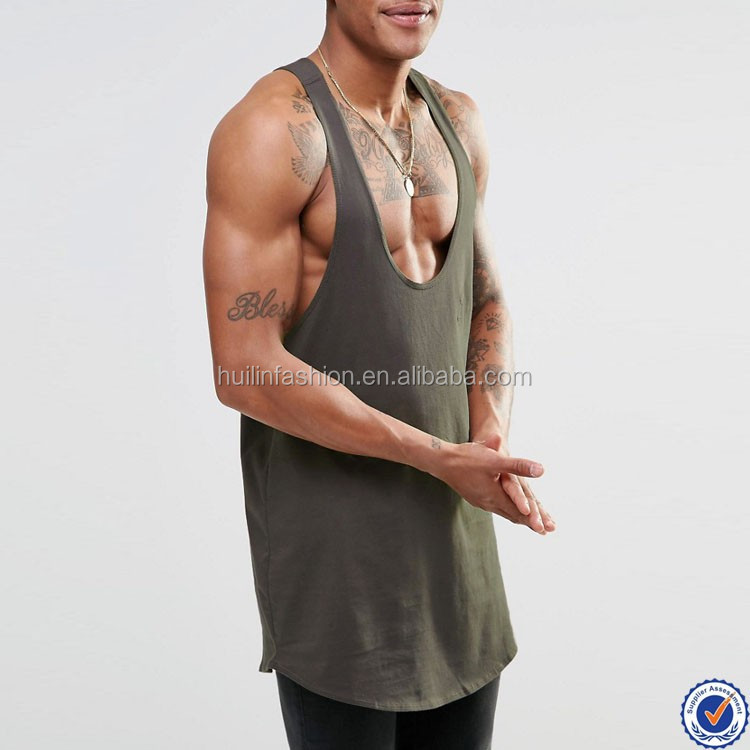 100 Cotton Stringer Muscle Tank Tops For Men Drop Armhole Super Scoop Neck Gym Tank Top Buy Gym Tank Top Super Scoop Neck Gym Tank Top 100 Cotton Stringer Muscle Tank Tops Product
