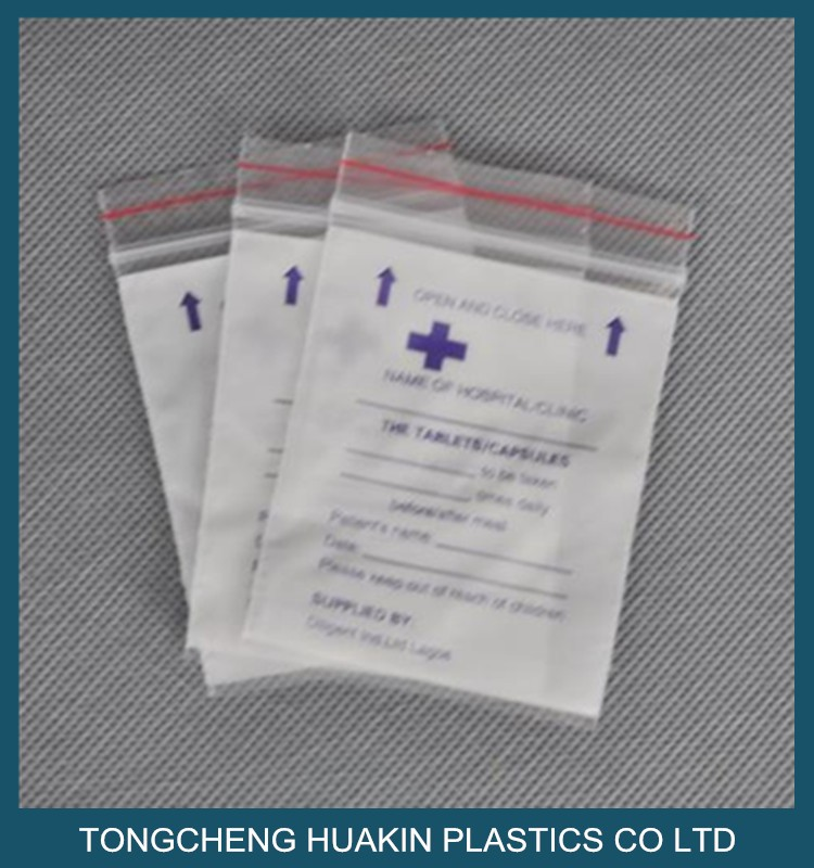 White Printing Tablets Dispensing Bags Reclosables Bag Ziplock Zipper Grip Seal Product On Alibaba