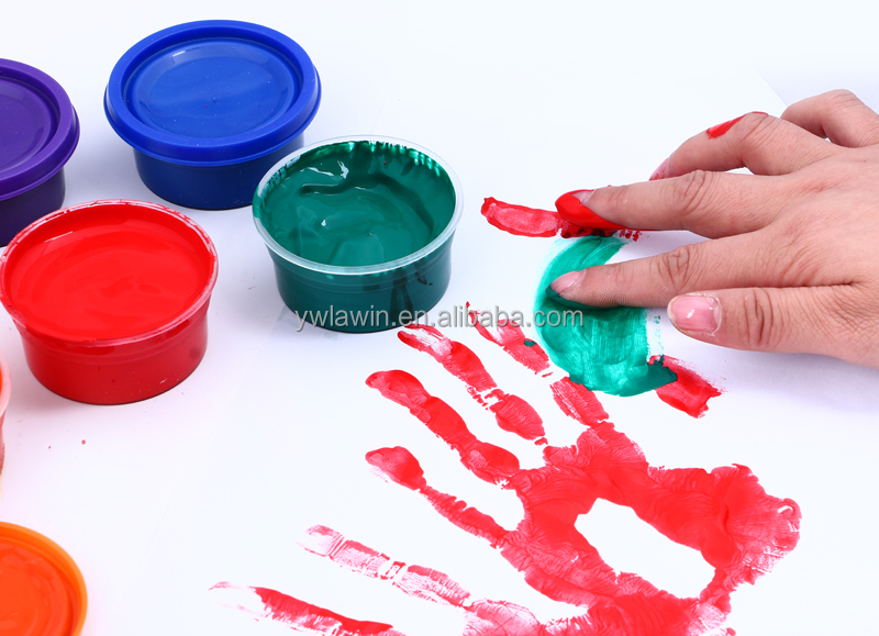 Children art nail Paints on Canvas, Wood, Glass finger DIY paint 50ml*6