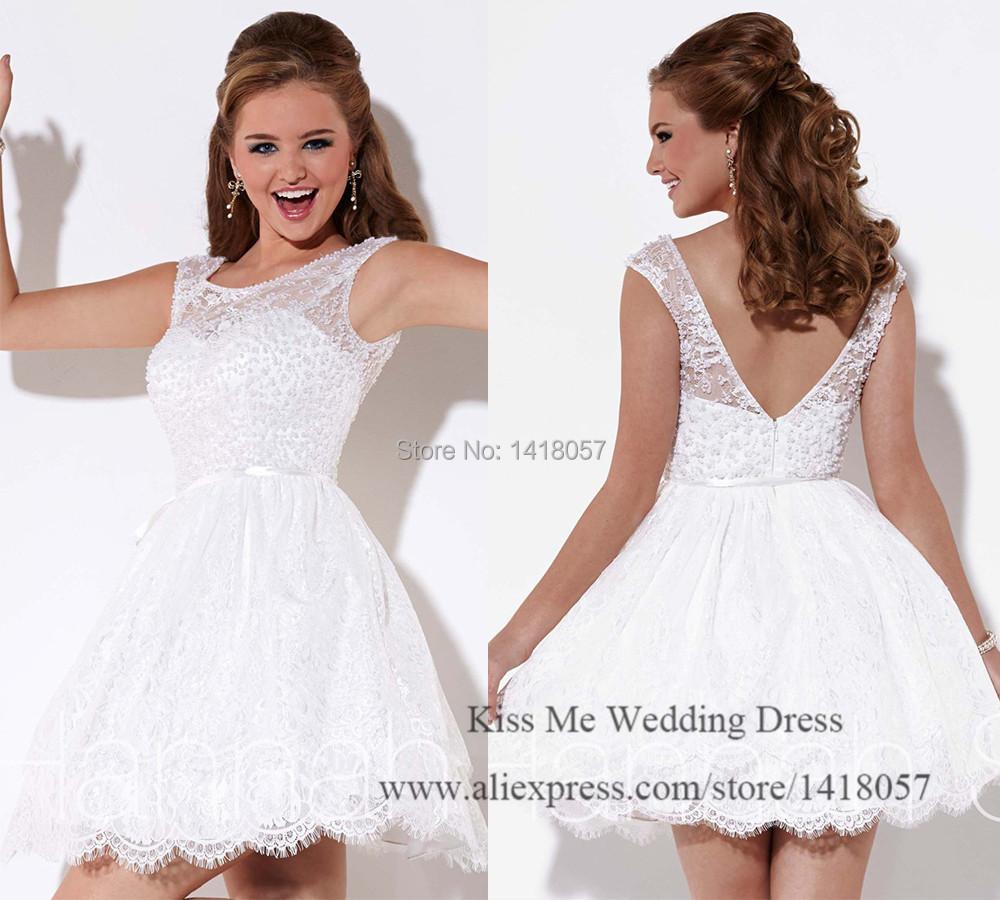Latest Dress Designs White Short Prom Dresses