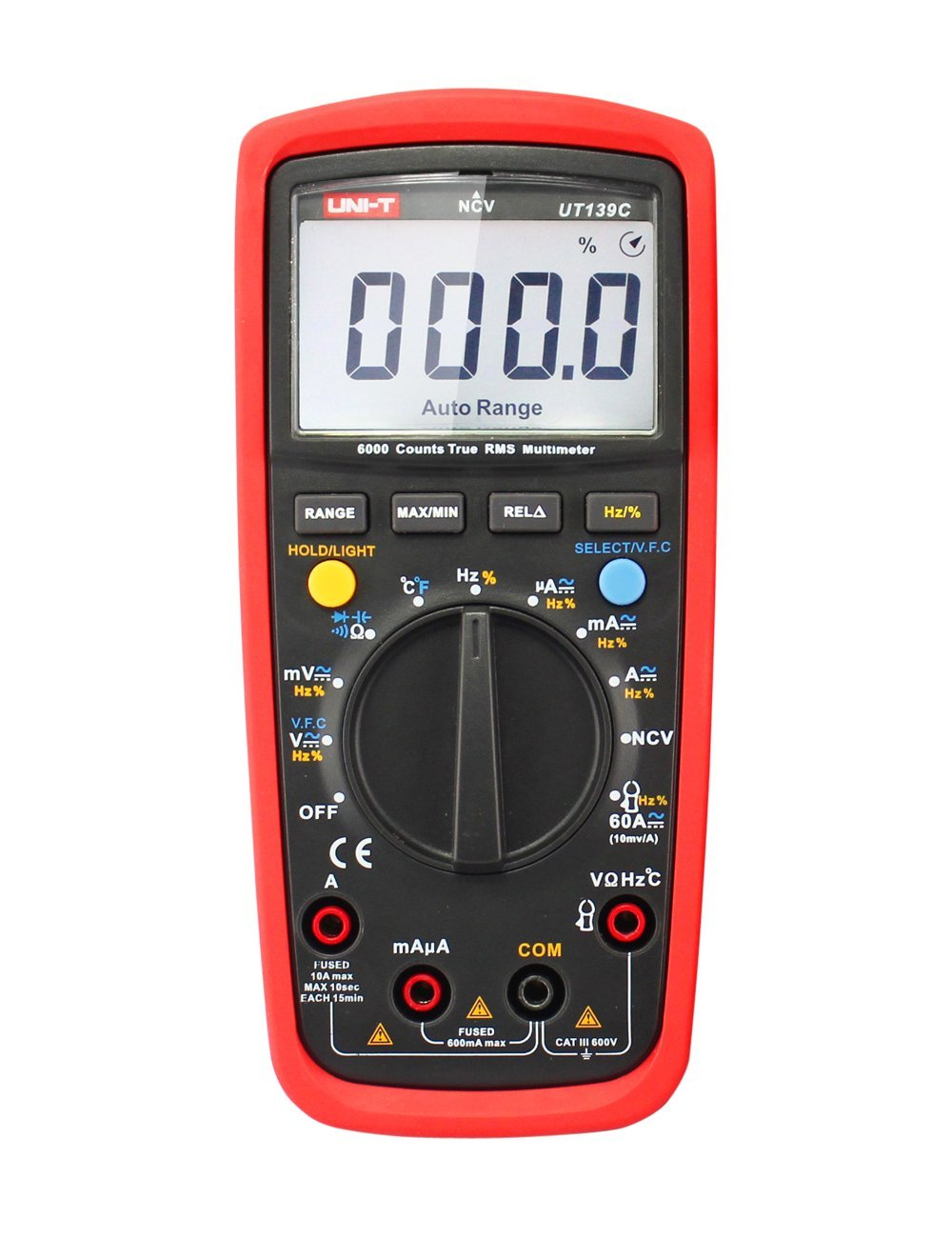Get Quotations · UT139C True RMS Digital Multimeter LCD Electrical Test  Handheld Tester Capacitance Voltage Auto Ammeter Multitester DC