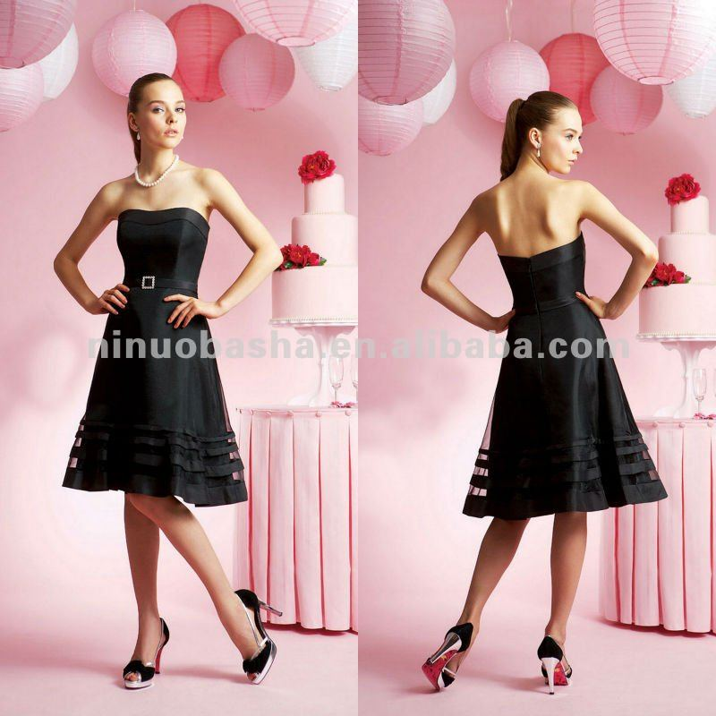 NY-2141 Organza and taffeta bridesmaid dress