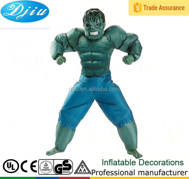 Inflatable Hulk Costume for Adults and Kids - Marvel Avengers Green Big air blown monster