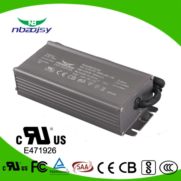 ce rohs listed ip67 100w waterproof led power supply