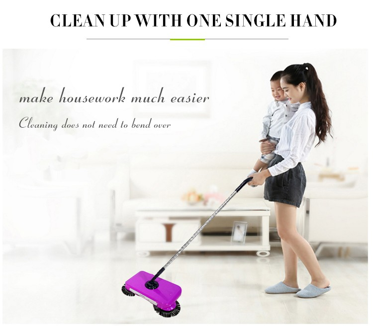 Manual Whirlwind Sweeper with Smart Multifunction