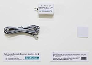 """2-LINE On/Off Switch for Any Telephone Device connected to a 2-line RJ-11 Phone Jack. The Telephone Remote Interrupt Control Kit 2. The """"TRICK 2"""". Amazon Exclusive, from Grandpa and Granny Co.!"""