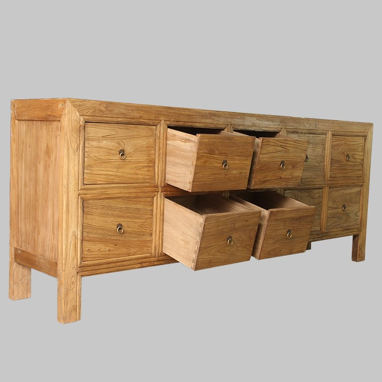 Wholesale Rustic Reclaimed Wood Drawer Storage Buffet