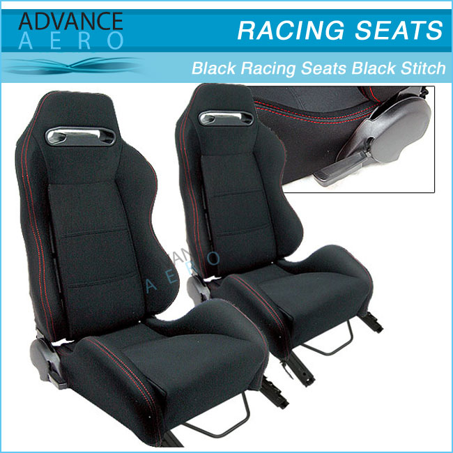 Adult Car Booster Seat For Mazda Recliner Black Cloth Racing Seats
