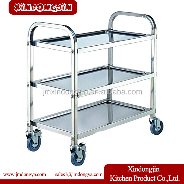 PRD-L3 Hotel equipment Stainless Steel Housekeeping Room Service trolley
