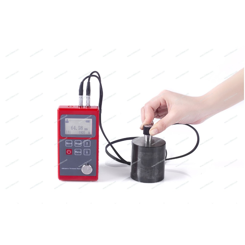 Resolution 0.01mm Velocity range 1000-9999m/s Ultrasonic thickness tester test apparatus