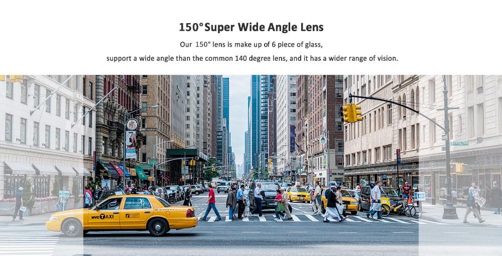 Loop Recorder Car Dual Camera HD Dash Cam With GPS Wifi