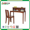 KD children study table set , retro wood writing desk and chair