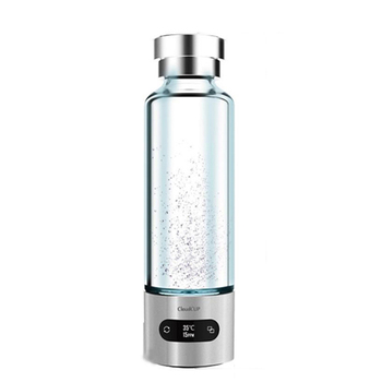 Watertight Rechargeable Bluetooth smart cup hydrogen rich water bottle with IOS/Android App and OLED Indicator