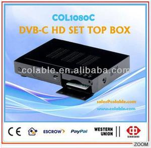 hd decoder receiver HD Digital Set Top Box with full, hd stb dvb-c tv receiver supports CAS COL1080C