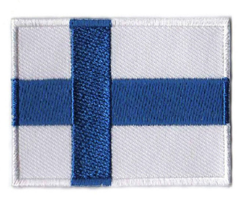Rechthoek Finland Land Vlag Moraal Badge Borduren Patch