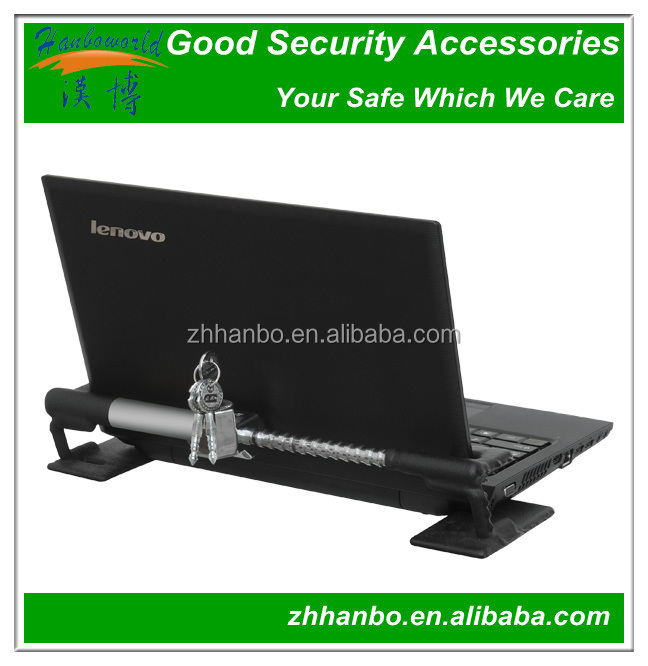 Mechanical alarm laptop security lock with key