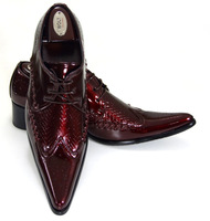 NA017 new design british style genuine ostrich grain leather mens fashion business shoe men dress pointed toe shoes