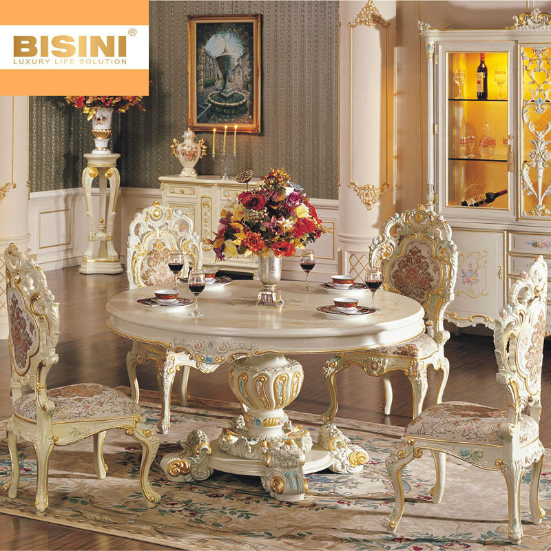 Bisini Rococo Style Round Dining Table   Buy Wooden Round Table Round  Rotating Dining Table Antiqure Dining Room Furniture Product on Alibaba com. Bisini Rococo Style Round Dining Table   Buy Wooden Round Table