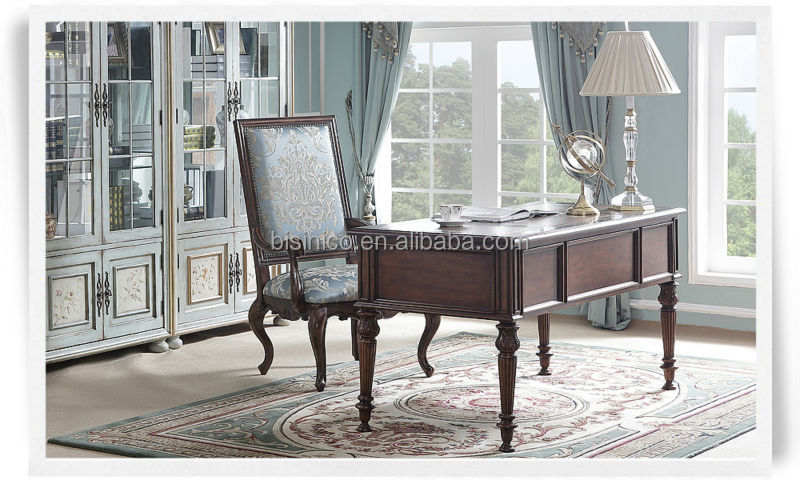 Good American Style Classic Office Furniture Set, Vintage Retro Furniture With  Executive Desk U0026 Chair U0026