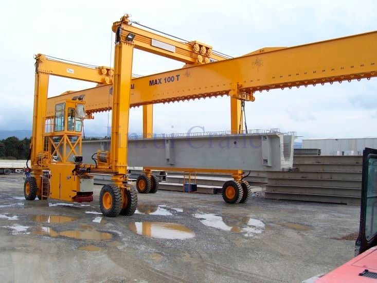 Overhead Crane Girder Deflection : Ton rubber tyre gantry crane for lifting precast