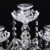 5 Arms Crystal Candle Holders Candelabras Wedding Table Centerpieces Stand