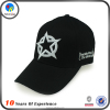 Low Price 3D Embroidery Black Baseball Cap