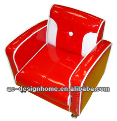 RED/WHITE PU/WOODEN KID ONE SEAT SOFA