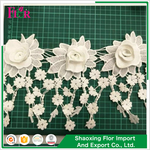 New style hot sale woven elastic beaded alencon bridal chopper bar yard 100% cotton lace trim