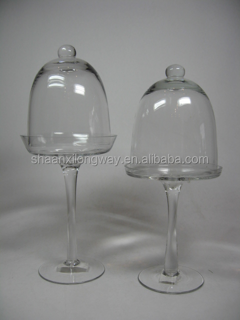 Fancy Wedding Cake Stand Food Glass Dome Cover With Base