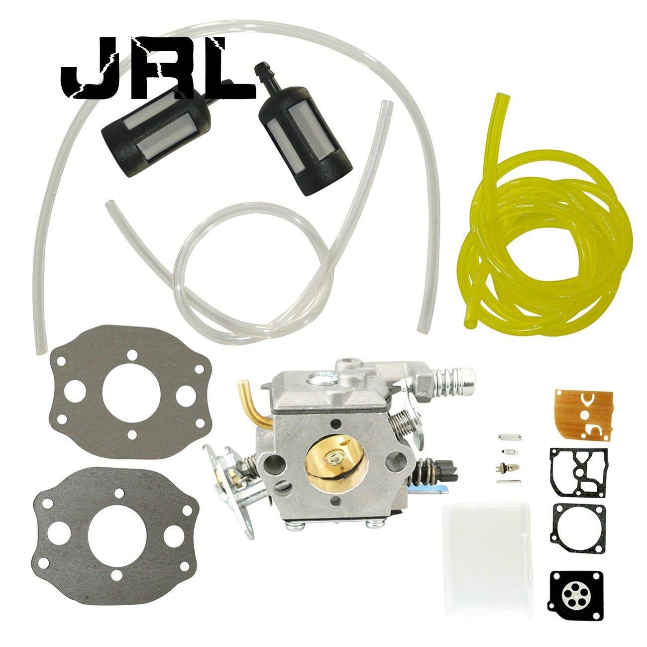 JRL Carburetor With Fuel Line Fuel Filter & Repair Kit Fit Husqvarna 137 Chainsaw