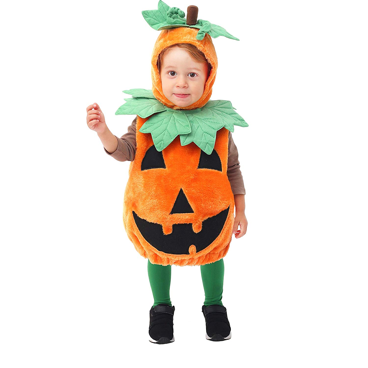 Spooktacular Creations Baby Pumpkin Costume Deluxe Set for Toddler/Infant Halloween Party Dress Up, Role Play and Cosplay