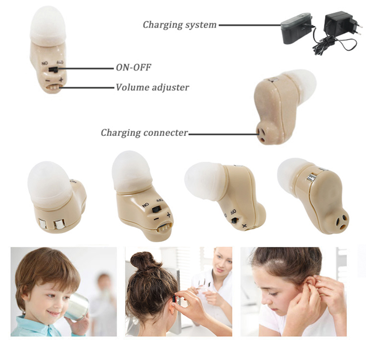 Rechargeable in the ear natural sound hearing aids JH-335