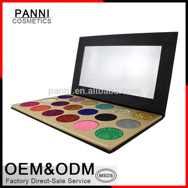 18 color Glitter eyeshadow palette for makeup cosmetics no brand makeup glitter eyeshadow palette