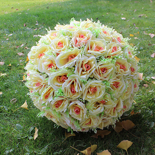 Buy cheap china silk flowers hanging products find china silk wholesale silk flowers hanging flower balls for wedding satin rose ball mightylinksfo