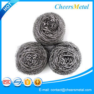 Stainless steel wire flat dish washing scourer