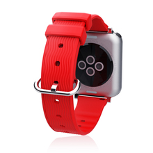 Zachte Siliconen Wave Patroon Sport Band Strap Belt Armband Horloge Band voor Apple iWatch <span class=keywords><strong>Nike</strong></span> ik Horloge Serie 4/ 3/2/1 38 40 42 44