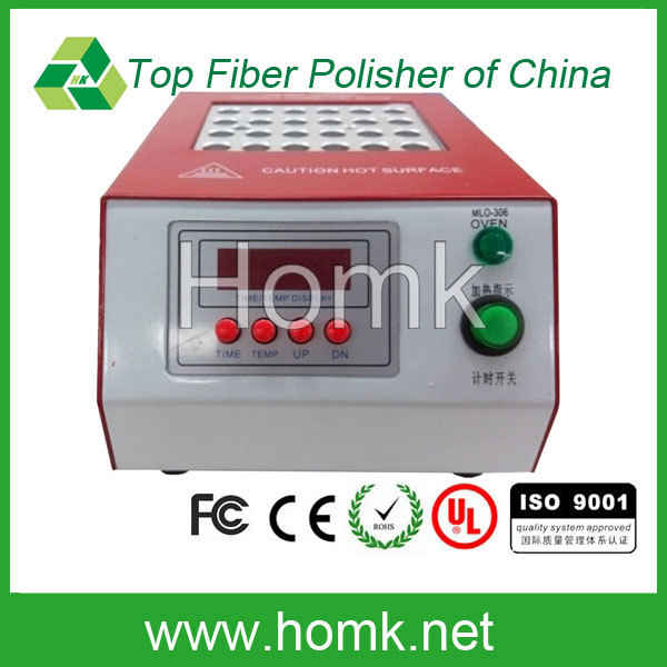 Fiber connector curing oven for patch cord production use optical curing oven