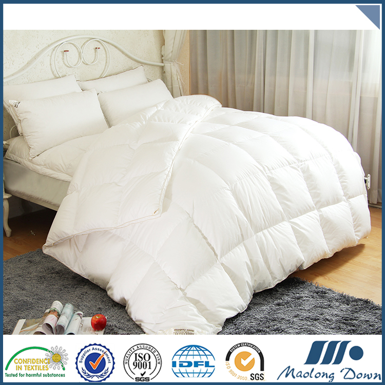 Factory supply attractive price plain white goose down filled comforters / duvets / quilts